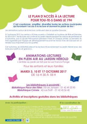 Affiche plan lecture Danube OCTOBRE 201723