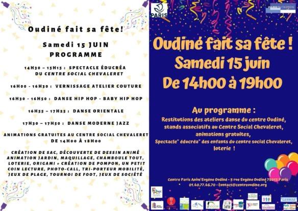 Affiche et programme fête du 15.06.19